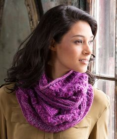 Adore This Lacy Cowl Free Knitting Pattern in Red Heart Boutique Unforgettable Yarn