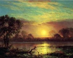 Learn more about Evening Owens Lake California Albert Bierstadt - oil artwork, painted by one of the most celebrated masters in the history of art. Landscape Art, Landscape Paintings, Albert Bierstadt Paintings, Munier, Hudson River School, Oil Painting Reproductions, Beautiful Paintings, American Art, American Standard