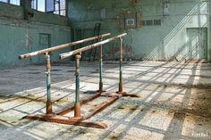 Tsjernobyl.  The gym.   Pic by Dutch photographer André Joosse.