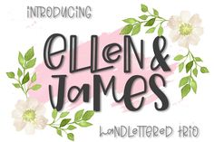 Ellen & James is a quirky and playful display font trio. Use it for web design, posters, logos, book covers and much more! Give your next projects a catchy and playful vibe. Handwritten Fonts, Calligraphy Fonts, All Fonts, Nice Fonts, Awesome Fonts, Font Design, Web Design, Graphic Design, Graphic Art
