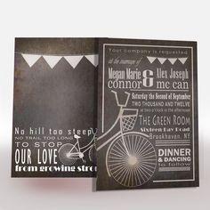 Items similar to Bicycle Wedding Invitation Printable on Etsy Cute Wedding Ideas, Wedding Themes, Wedding Cards, Our Wedding, Wedding Decorations, Wedding Inspiration, Style Inspiration, Wedding Invitation Layout, Birthday Invitations