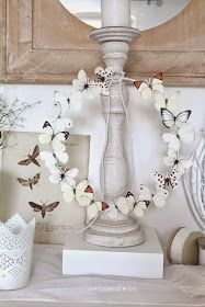seidenfeins Dekoblog: DIY Sommerschmetterlinge aus Papier als Kranz * DIY paper summer butterflys on a wreath