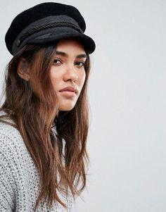 0d08a11ca1f Brixton Cord Baker Boy Hat at asos.com