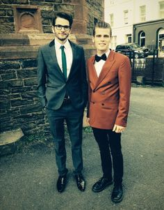 HudsonTaylor: 'Brothers in suits' Hudson Taylor, Double Breasted Suit, Suit Jacket, Suits, Jackets, Fashion, Down Jackets, Moda, Fashion Styles