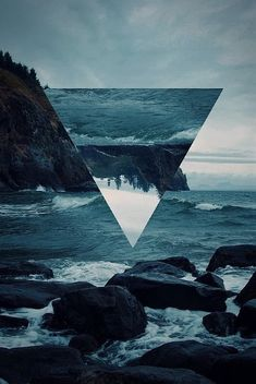 inverted nature, triangle, graphic design