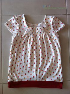 Sewing The Littleheart Collection: Shirred Front Shirt