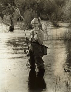 Betty Davis the flyfisher www.sportinglifeblog.com