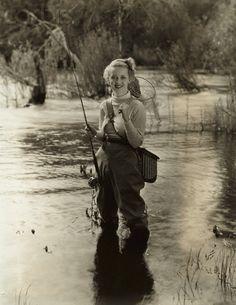 Betty Davis the flyfisher www.sportinglifeblog.com