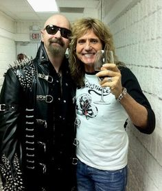 Rob Halford and David Coverdale...Priest, best band ever...and Whitesnake, sexiest band ever!!