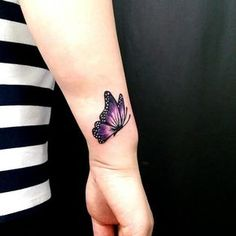Butterfly Tattoo – View the recent tattoo designs - Best Tattoos Purple Butterfly Tattoo, Butterfly Tattoos For Women, Butterfly Tattoo Designs, Tattoo Designs For Women, Tattoos For Women Small, Small Tattoos, Infinity Butterfly Tattoo, Pretty Tattoos, Unique Tattoos