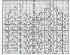 Mønster på Gamle Selbuvotter i tyntgarn