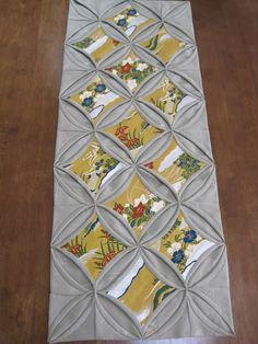 quilt / runner with kimono fabric