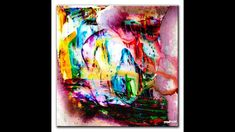 ABSTRACT PAINTING - USING WATER - ACRYLICS PAINT - WINDOW WASHER - SPONGE