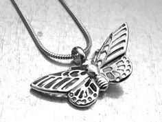 Butterfly Cremation Necklace, Peace Urn Locket, Ashes Holder Necklace, Cremation Locket, Memory Locket, Cremation Jewelry by urbanindustries on Etsy