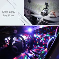 DC5V 3W Mini RGB LED Car Magic Ball Light With Remote Control Sales Online 1 - Tomtop Tech Accessories, Remote, Magic, Led