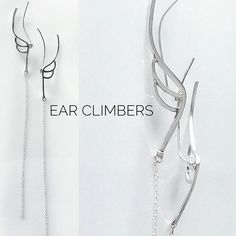 """Wings ear climbers!!! New Rich Drop """"Heavenly"""" collection pair!!! #jewelry#handmade#sterling#silver#fashion#elegant#minimal#classy#wings#jewelryphoto#beautiful#everyday#richdrop#greekdesigners#mydesign#contemporary#collection#heavenly# #"""