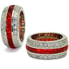 Rubies & Diamonds.  Oh these are great!   His and hers???