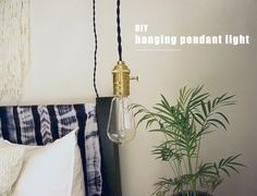 Easy DIY pendant light tutorial - no electrician required
