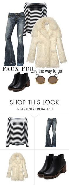 """""""#fauxfurcoats"""" by leahrae-1 ❤ liked on Polyvore featuring Ralph Lauren Blue Label, True Religion, STELLA McCARTNEY and Linda Farrow"""