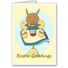 Easter Bunny Dancing Illustrated Card / by TsipiLevin