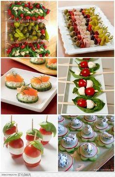 przystawki na impreze/grilla na Stylowi. Snacks Für Party, Appetizers For Party, Appetizer Recipes, Healthy Snacks, Healthy Eating, Healthy Recipes, Tapas, Comidas Fitness, Food Platters