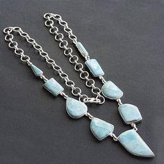 23Larimar  Necklace Handmade Gemstone Jewelry by ABCJewelryMart, $109.99