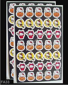 2 Sandylion Scrapbooking HELLO KITTY HALLOWEEN Stickers FA-33