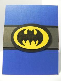 Batman Boy Birthday Card by HandCraftedBy2 on Etsy, $4.50