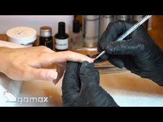 Copertura dell'unghia naturale in gel e applicazione gel colour (metodo Gamax) - YouTube