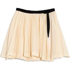 Band of Outsiders Pleated Wrap Skirt ($395) ❤ liked on Polyvore featuring skirts, bottoms, nude, pink pleated skirt, cotton pleated skirt, band of outsiders, long cotton skirts and long pleated skirt