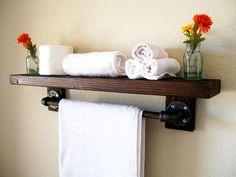 Rustic Wood Shelf Floating Shelves Wall Shelf Wall Shelves Storage Organization Toilet Paper Holder Bathroom Storage