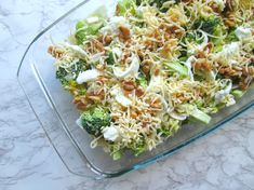 Broccoli casserole with walnuts and mozzarella (low in carbohydrate) - Broccoli casserole with walnuts and mozzarella (low in carbohydrate). Looking for an easy oven dish - Healthy Crockpot Recipes, Veggie Recipes, Healthy Cooking, Vegetarian Recipes, Healthy Eating, Cooking Recipes, Pasta Recipes, Mozzarella, Healthy Diners