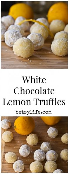 Super Simple White Chocolate and Lemon Truffles. This dessert recipe is great for Valentine's day