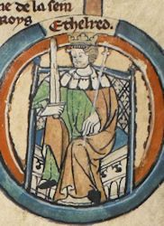 King Aethelred I of England ,born around 847 Wessex and ruled from was a Saxon King. British Royal Family Tree, Royal Family Trees, Uk History, British History, My Ancestors, English Royalty, Anglo Saxon, Ancestry, Timeline