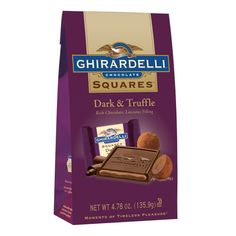 #GhirardelliChocolate    Dark & Truffle SQUARES Stand Up Bag - a little goes a long way.