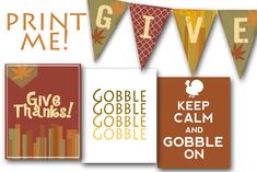 Free fall thanksgiving printables and banner
