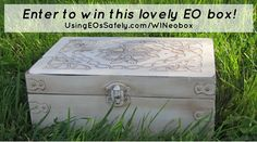 GIVEAWAY: Antiqued White Celtic Design EO Storage/Supply box | Using Essential Oils Safely http://www.usingeossafely.com/WINeobox
