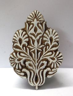 Wooden Hand Carved Textile Printing on Fabric Block Stamp Ethnic Floral Motif | eBay