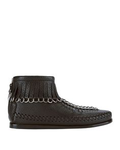 Alexander Wang Leather Moccasin Ankle Boots Discount Explore Online Cheap Price qkIArlmR