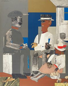 Romare Bearden, Eastern Barn, Collage of paper on board, 55 × 44 in. Whitney Museum of American Art, New York African American Culture, American Art, Mixed Media Collage, Collage Art, Collages, Romare Bearden, Contemporary African Art, Arts Integration, Whitney Museum