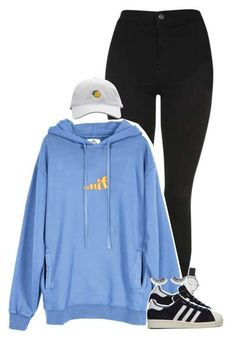 """""""Set 397 -"""" by xjulie1999 ❤ liked on Polyvore featuring Topshop, UNIF, Olivia Burton, Huda Beauty and adidas"""