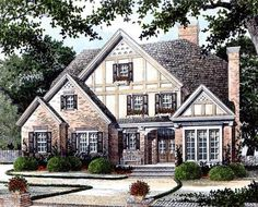 English Manor Home Plan - 56107AD thumb - 01