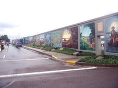 Murals in downtown Paducah along the Ohio River.