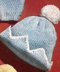 Baby Cap Hat Beanie Sweater Knitting Pattern Boy Set
