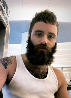 I Love Beards, Great Beards, Long Beards, Awesome Beards, Men With Stubble, Different Beard Styles, Beard Head, Hair Barber, Hot Dads