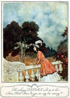 Art by Edmund Dulac (1901) from SLEEPING BEAUTY AND OTHER FAIRY TALES.