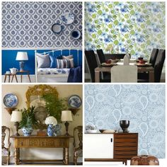 Blue and white are still amazing color schemes... here's a great blue wallpaper selection..prefecto!