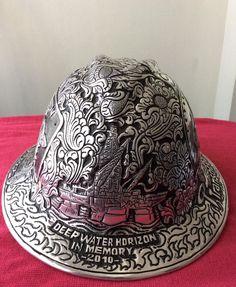 7044b280 In Memory #DeepwaterHorizon Engraved metal #hardhat for souvenirs, gift or  #awards with