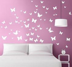 Bedroom Wall Designs, Bedroom Wall Colors, Diy Room Decor, Bedroom Decor, Wall Decor, Girl Room, Girls Bedroom, Room Wall Painting, Home Room Design