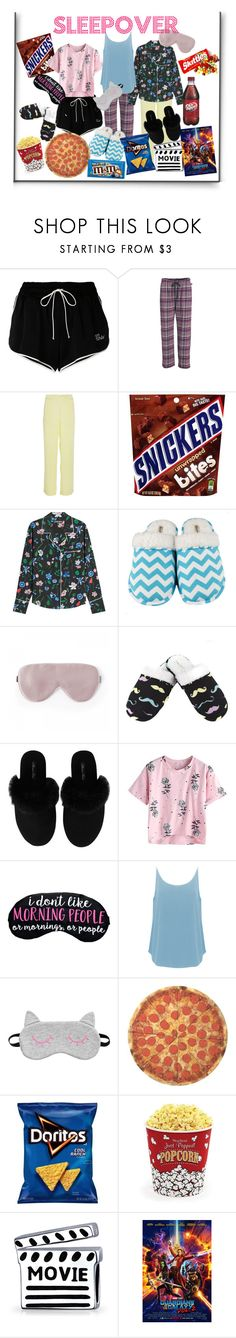 """Sleepover"" by teadrinkbread ❤ liked on Polyvore featuring Off-White, Woolrich, Markus Lupfer, Leisureland, Minnie Rose, BA&SH, Round Towel Co., West Bend, Bling Jewelry and sleepover"